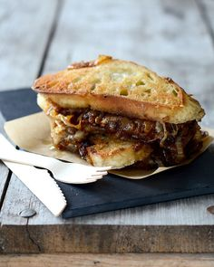 French Onion Soup Sandwiches by  @Erica Lea. Uh...wow.