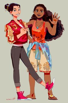 """fornt half batman on Twitter: """"the chief and her wise advisor #mulan #moana… """""""