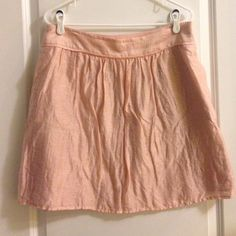Loft skirt Super cute pink skirt with pockets and side zipper. No signs of wear. LOFT Skirts A-Line or Full
