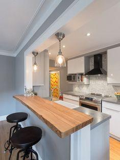 Cozinha Americana Pequena Com Sala 3 Tradicional Cozinha