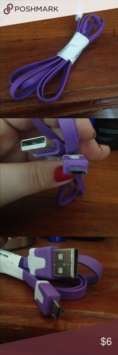 NWT charging cable Does not fit iPhones will work on cameras, portable chargers, etc Unknown Accessories Phone Cases