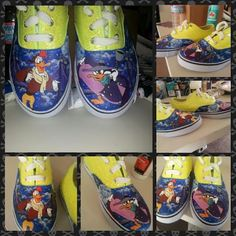 Darkwing duck handpainted shoes by ShoesbyShawndy on Etsy, $55.00