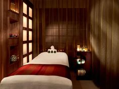 landmark spa & health club spa treatment room at a hotel spa in london