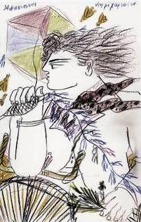 Ο χαρταετός στην τέχνη » 8ο Δημοτικό Σχολείο Ελευθερίου-Κορδελιού Kites Craft, Greek Art, Anime, Crafts, Masks, February, Paintings, Carnival, Manualidades