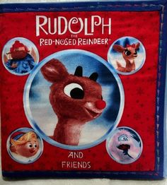 Children's Quiet Cloth Book  Rudolph the Red Nosed Reindeer by ScrappyDees on Etsy