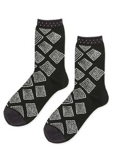 L:C Loves Patterns |  Hansel From Basel Woody Crew Socks