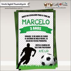 $35.00 Convite Festa Futebol Digital