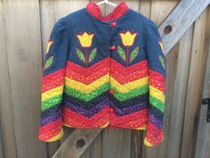 Vintage Quilted Jacket Kids 6/7 by lishyloo on Etsy