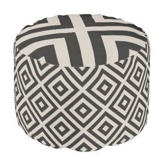 #Farmhouse Diamond X Black Linen Pouf - #country gifts style diy gift ideas Modern Farmhouse Decor, Country Farmhouse, Black Linen, Black And White, Home Living, Living Room, Fabric Beads, Large Furniture, Decoration