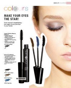 """Colours"" Eyes:  Eyehshadow (10000)  Liquid Eyeliner (10005)  Kohl (10001)  Eyelid Highlighter (10004)  Eyebrow Double Pencil (10006)  Length & Definition Mascara, Waterproof (10003)  Volume & Curl Mascara (10002)  All you can find   www.lrworldshop.com Lr Beauty, Mascara, Eyebrows, Eyeliner, Volume Curls, Aloe Vera, Make Up, Make It Yourself, Hair Pins"