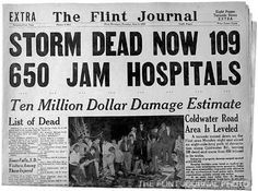 Flint Michigan - After the tornado I was there in our basement for that one in 1953.
