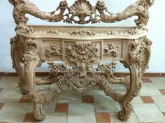 Very ornate wood carving