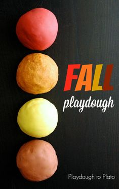 4 Playdough Recipes for Fall. Apple cider, pumpkin pie, spicy ginger and nutmeg playdough. So much fun for preschoolers!!