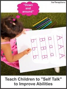 """Teach children to """"self talk"""" to improve fine motor and organisational abilities"""