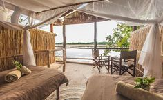 Island Bush Camp is a Zambia bush camp in the heart of the South Luangwa National Park offering walking safaris and a real wilderness safari experience.