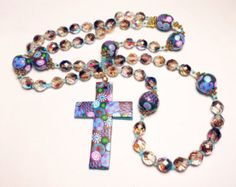 Catholic Rosary Handmade Polymer clay Components Prayer Beads Preciosa Czech Glass Reversible Cross Everything Else Religious Men Women
