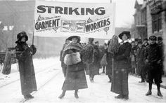 Strikers picketing during the 1913 Garment Workers' Strike