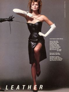 'North Beach Leather' / Fall/Winter 1985/86 - SuperModel Paulina Porizkova for Vogue US (November 1985) lensed by Victor Skrebneski