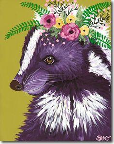 "Spring Whitaker's ""Petunia"", skunk, Skyline, print, printing, fine art, giclee"