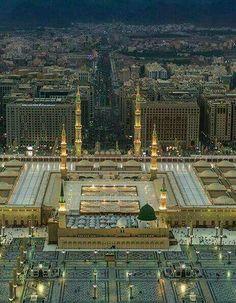 madina tul munawara masjid al nabawi Masjid Haram, Al Masjid An Nabawi, Mecca Masjid, Islamic Images, Islamic Pictures, Islamic Art, Beautiful World, Beautiful Places, Medina Mosque
