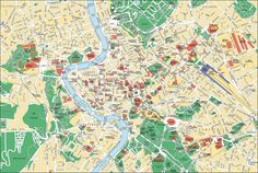 Vous pouvez trouver une (ou plusieurs) carte de Rome, la capitale de l'Italie. Il est également possible de trouver des plans de de Rome.