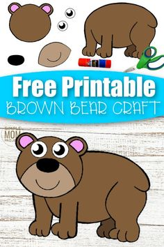Welcome to our fun cut and paste Brown Bear craft for your kids! With cooler weather just around the corner, it's an ideal time to get some diy indoor craft activities. This cut and paste Brown Bear craft is a perfect idea for toddlers or preschoolers or even a kindergarten art project. Surprise your kids with this free printable cut and paste Brown Bear craft today. #cutandpastecrafts #BrownBearcrafts Animal Crafts For Kids, Winter Crafts For Kids, Easy Crafts For Kids, Winter Fun, Animals For Kids, Printable Crafts, Free Printable, Printables, Toddler Sensory Bins