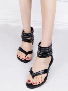 cdabb8b59 Bohemia Beach Hollow Flat Roman Sandal Shoes