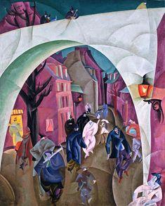 Лионель Фейнингер «Зеленый мост II» 1916 г.