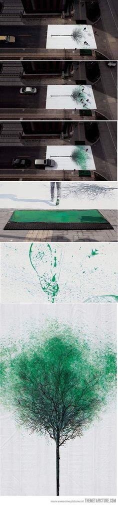Pedestrian Crossing in China Turns Footsteps Into Leaves…whoaaa soooo awesome!