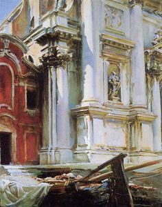 John Singer Sargent Church Of San Stae, Venice Date: 1913 Style: Realism Genre: cityscape Media: oil, canvas Location: Private Collection