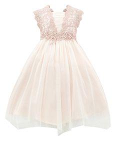 Estella Shimmer Flower Crochet Dress | Pink | Monsoon
