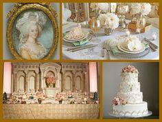 Marie Antoinette themed wedding