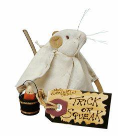 Halloween Decor Primitive Ghost Mouse Mini Doll/Ornament Janet Burzenski 2.5 in #PrimitivesbyKathy #RusticPrimitive #Halloween Primitive Fall Decorating, Primitive Halloween Decor, Halloween Home Decor, Halloween Ghosts, Halloween House, Holidays Halloween, Halloween Crafts, Halloween Decorations, Holiday Decor