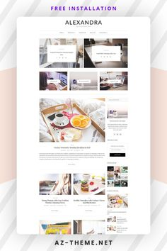 """""""Alexandra"""" A WordPress Blog Theme for Creative People , perfect choice for your personal blog, corporate blog, marketing blog, authority blog or any type of creative blog. Allow your content to shine with Alexandra. Easy installation allows you to start post blogs immediately after the activation. Theme supported Customize which allows you to customize and change design of your blog. Wordpress Template, Wordpress Theme, Wordpress Org, Corporate Blog, Custom Website Design, Blog Layout, Website Design Inspiration, Layout Inspiration, Blogger Templates"""