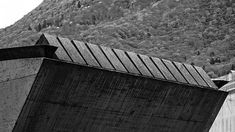 ArcDog Film: Piazza del Sole | Livio Vacchini. Video on our Vimeo and Youtube. Image  ArcDog. #Piazza #LivioVacchini #Vacchini #Bellinzona #Switzerland #Detail #Mountain #Concrete #ArcDogFilm #Architecture #Architect #Film #ArcDog #Filmmaking #Brutalism #Blackwhite #BW