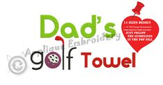 Golf Embroidery Design-Sports Embroidery-Dad Golf Towel