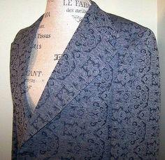La Santa Maria 42R Mens Blazer Jacket Rare Vintage 2 button 6 Pocket Lined
