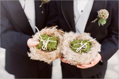 From rustic to vintage, beach-inspired to bohemian, here are 25 ring bearer pillow alternatives that can be put together on even the tiniest of budgets. In fact, you may even have something in your home now that you can use.  ahandcraftedwedding.com