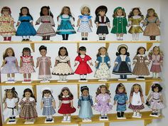 ok ok. This lady has a lot of dolls. Got only 8-9?