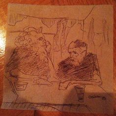 One of my best bar napkin sketches. #draw #drawing #artist #sketch #sketches