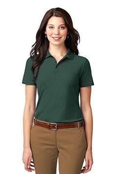 93060b50 Port Authority Women Polo Shirt Women, Polo T Shirts, Sports Shirts, Orange  Quotes