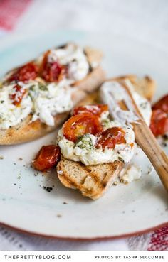 Labneh with Slow Roasted Tomatoes | Recipes | The Pretty Blog