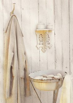 shades of white for the bath...