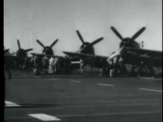 Corsairs Operate from Carriers in Korean War