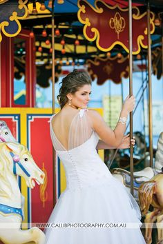 Have fun on your wedding day ❤️ Editorial Shoot for: Sunshine Coast Brides Magazine Photographer: Calli B Photography Wedding gown: Elizabeth de Varga  Location: Aussie World Models: Division Model Management Hair: Hair by Nicola Makeup: Pru Edwards #wedding #weddingday #aussieworld #merrygoround #carrossel #bride #bridal #fun #australia #designer #australiandesigner #couture #bespoke #madetomeasure #madewithlove #makeup #hair #weddinghair #weddingmakeup #bridalmakeup #gown #weddinggown…