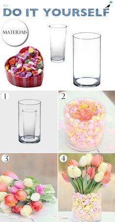 vaso de balas/ diy candys jar/ wedding