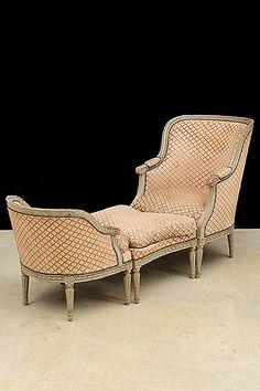 French Antique Louis XVI-Style Duchesse Brisee