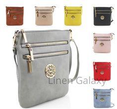 Double Front Zip Ladies Girls JM834-1 Small Across Body Bag Women Shoulder Bags #LinenGalaxy #Crossbody