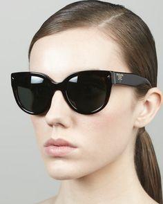 Prada Heritage Cat-Eye Sunglasses, Tortoise - Neiman Marcus