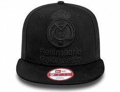 Tonal Black Real Madrid Snapback Cap by EURO LEAGUE x NEW ERA 3a57f3775604